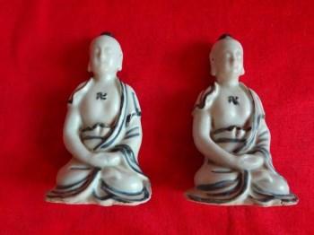 ◆ 精品 海捞德化窑菩萨人物一对 -收藏网