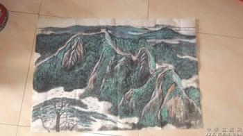 国画长城春天,很是好看,1987年画的-收藏网