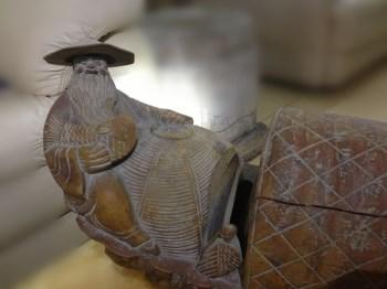 晚清民国 竹根雕神槎-中国收藏网