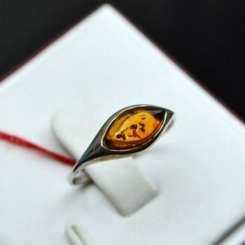 925银琥珀戒指(眼型)-收藏网