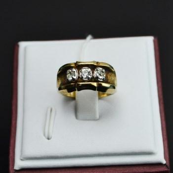 银镀金镶水钻戒指-收藏网