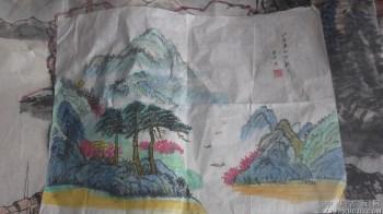 国画山水画,1993年画的,水平很好-收藏网