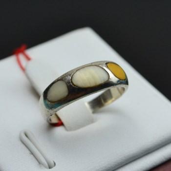 银镶黄白双色戒指-收藏网