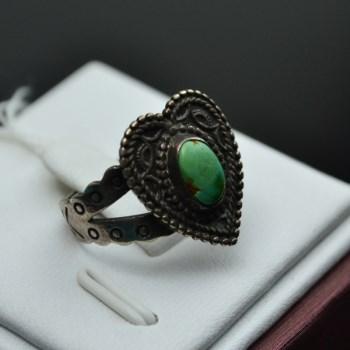 925925银镶绿松石戒指-收藏网