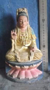 观音木雕像,受的动态太好了,会给你带去好运的 -收藏网