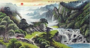 李志远·六尺山水国画-收藏网