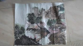 山水画国画,意境还不错,1987年画的-收藏网