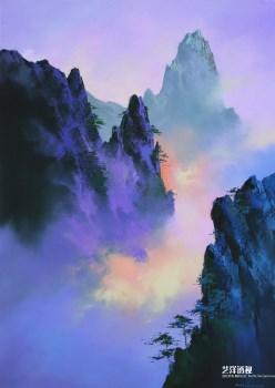 黄山飘霞-收藏网