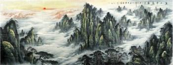 陈昌浩·巨幅大丈六山水画-收藏网