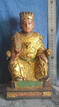 木雕菩萨,神态真好,真好看 -收藏网