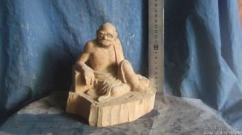 罗汉木雕像,黄杨木雕刻,雕的不错 -中国收藏网