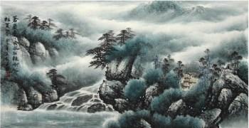 何英·三尺山水国画-收藏网