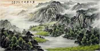 范勇明·大八尺青绿山水-收藏网