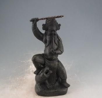 民国福建会馆款古铜釉武财神-收藏网