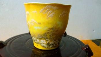 民国(素彩)山水纹茶盅-收藏网