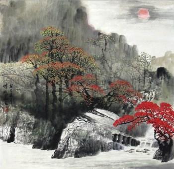 林伟斌·四尺斗方山水-收藏网