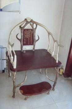 仿清代皇帝座椅 鹿角椅 明清仿古家具-收藏网