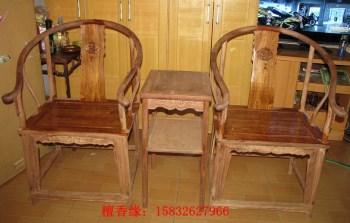 大叶黄花梨明清圈椅黄金花梨书房家具定做-收藏网