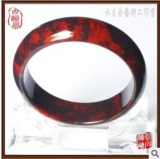 桂林鸡血红碧玉手镯-中国收藏网