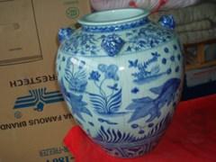 元青花鱼藻纹大罐-收藏网