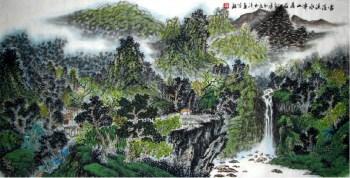 邓玉清·四尺山水 -收藏网