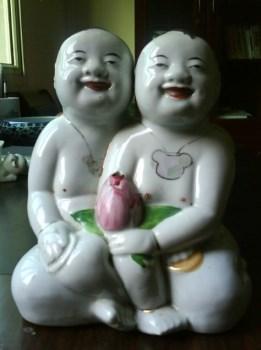 民国醴陵窑生字厂款瓷塑香娃娃-收藏网