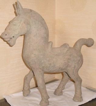 汉代陶马-收藏网