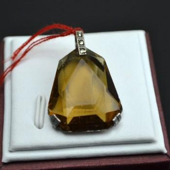 银镶黄水晶挂件-中国收藏网
