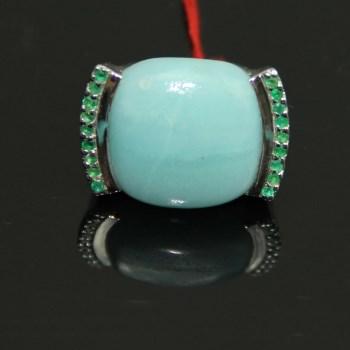 亚马逊宝石戒指-中国收藏网