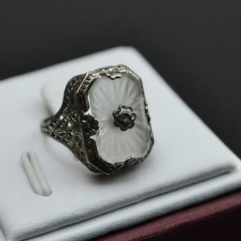 银镶水晶戒指-中国收藏网
