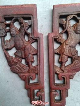 两个小人物东阳木雕-收藏网