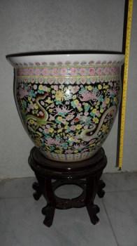 粉彩群龙鱼缸-收藏网