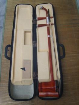 高振保精制缅红木二胡送硬盒。新二胡-收藏网
