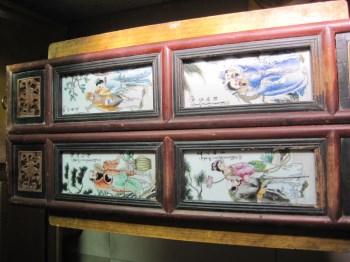 民国珠山八友、瓷板画二屏、-收藏网