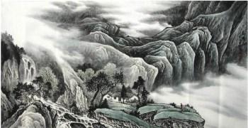 谢德鸣·四尺山水-收藏网