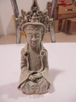 明代观音瓷像-收藏网