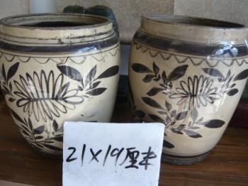 磁州窑画花纹罐-收藏网