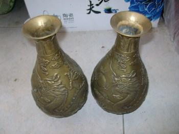 铜花瓶一对-收藏网