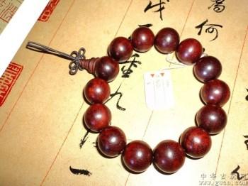 印度小叶紫檀珠串手链-中国收藏网