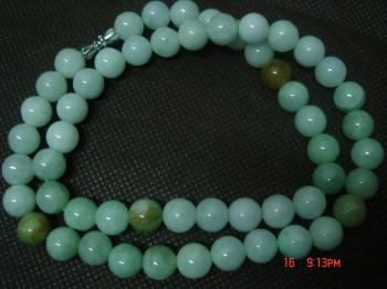 【包你赚】真材实料的缅甸A货翡翠项链-中国收藏网