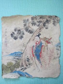 明代画家唐寅绢本 -中国收藏网