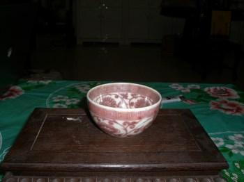明代釉里红 瓷碗-收藏网