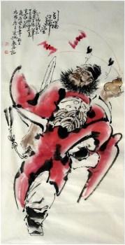 何奕兴·四尺人物《钟馗》-中国收藏网