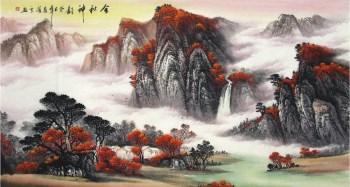 覃海云·六尺山水国画-收藏网