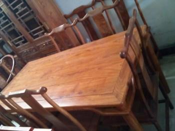 非洲花梨餐桌-收藏网