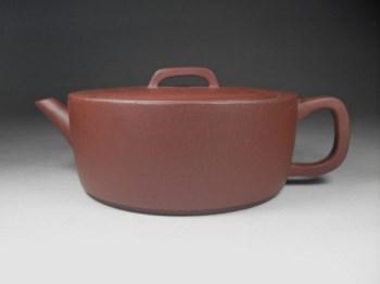 宜兴紫砂 优质老紫泥 全手工 国家级职称 扁汉瓦-收藏网