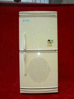 DWPww非常少见的美菱立体电冰箱式老收音机一台-收藏网