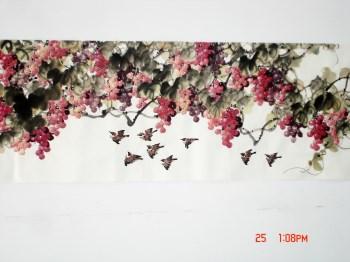 崔学坤丈二国画葡萄硕果累累编号5055-收藏网