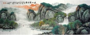 张若波·小六尺山水-收藏网
