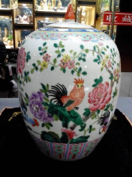 清晚期冬瓜罐(冠上加冠)-收藏网